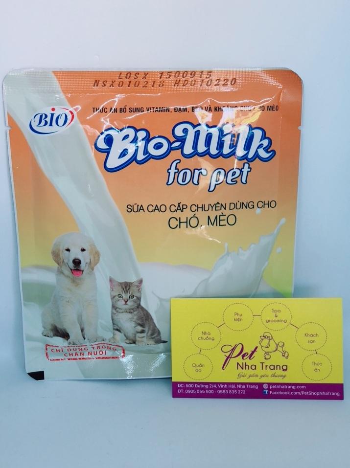 Sữa bổ sung chất dinh dưỡng cho chó mèo Bio-milk Pet Nha Trang