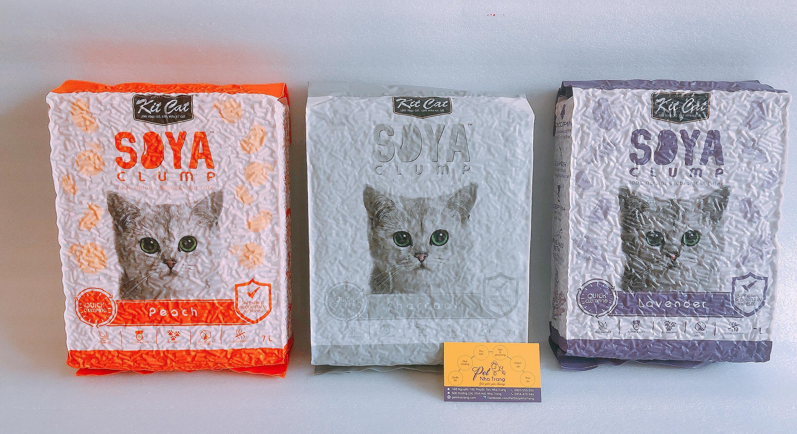 Cát vệ sinh đậu nành cho mèo KitCat Soya
