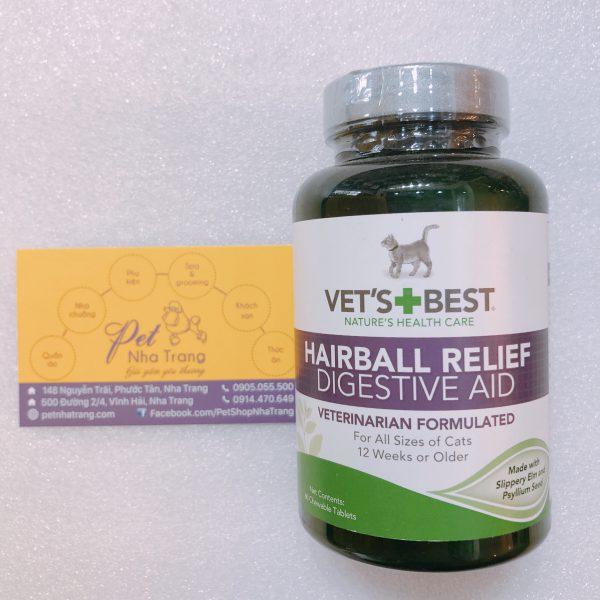 Vet's Best Cat Hairball Relief Giảm búi lông mèo