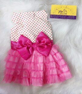 Váy nơ hồng cho chó, mèo Pet Nha Trang