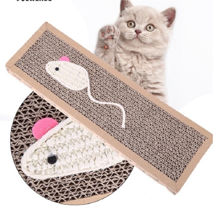 Thảm cào giấy cho mèo Size M 3