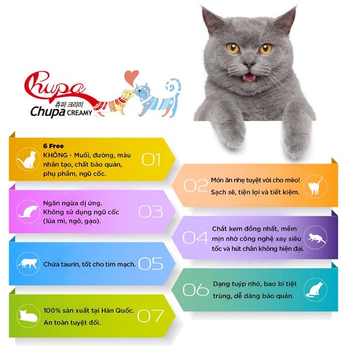 Chupa sốt ức gà và cá hồi cho mèo 56g 4